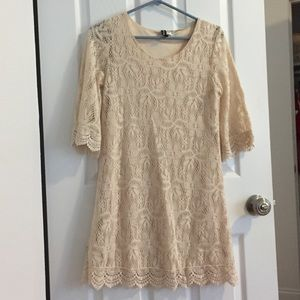 cream lace dress from H&M